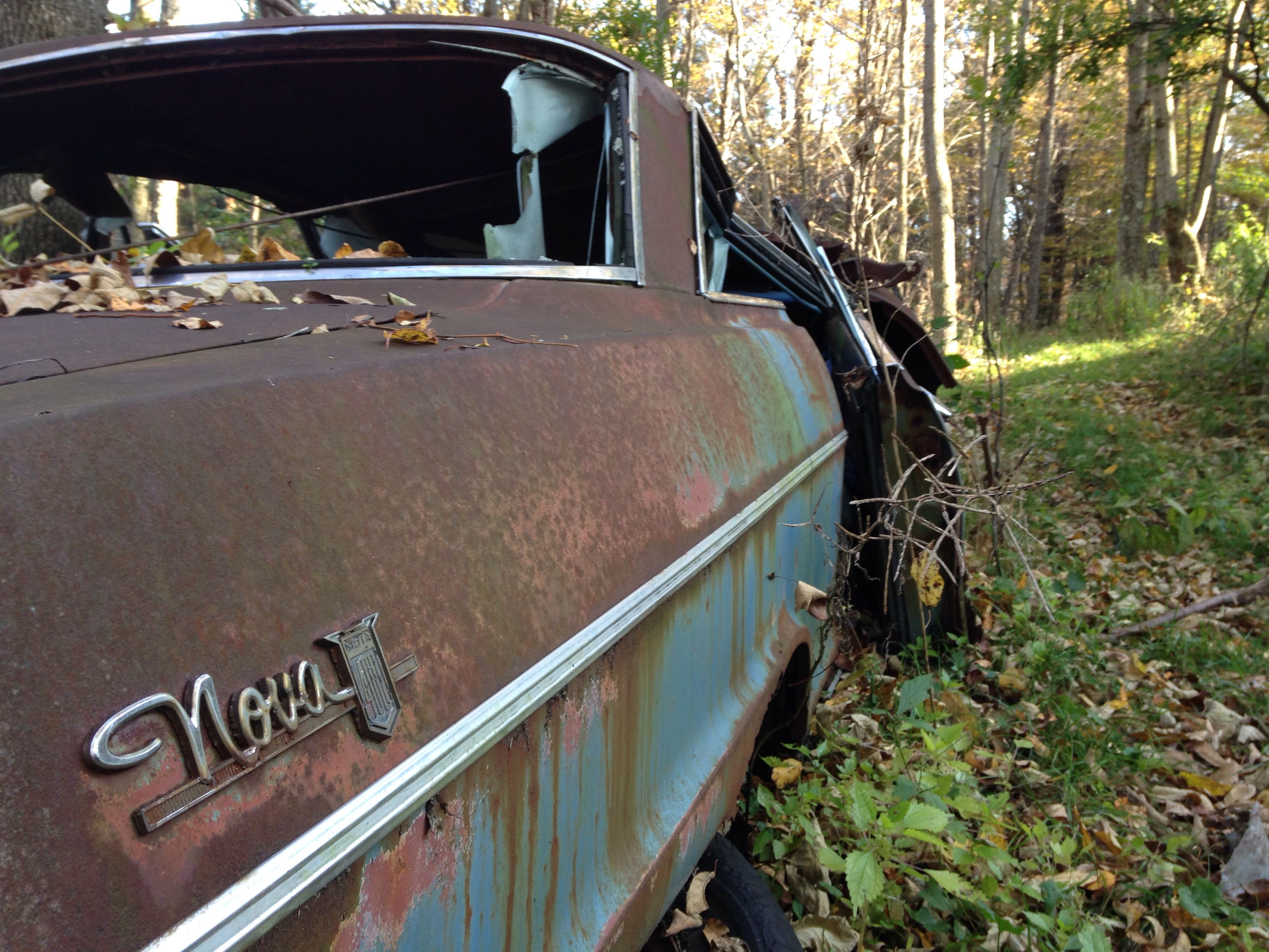 Old Chevy Nova Found Deep In The Woods Near Dushore Pa Chevy
