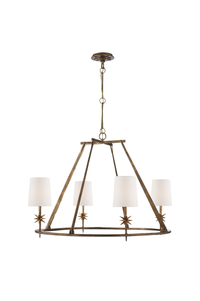 Etoile round chandelier claydon sell pinterest round etoile round chandelier in gilded iron with natural paper shade aloadofball