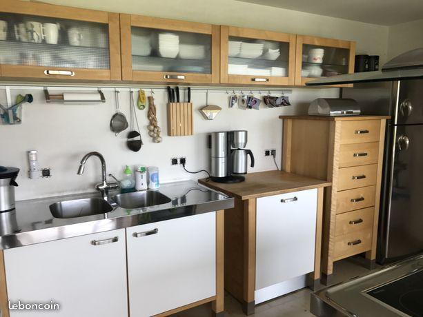 Cuisine Equipee Ikea Varde En Bouleau Massif Ikea Varde Kitchen Cabinets Varde