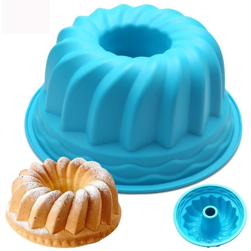 85be74fd2c Practical Silicone Ring Shaped Cake Pastry Bread Mold Mould Kitchenware  Good for oven