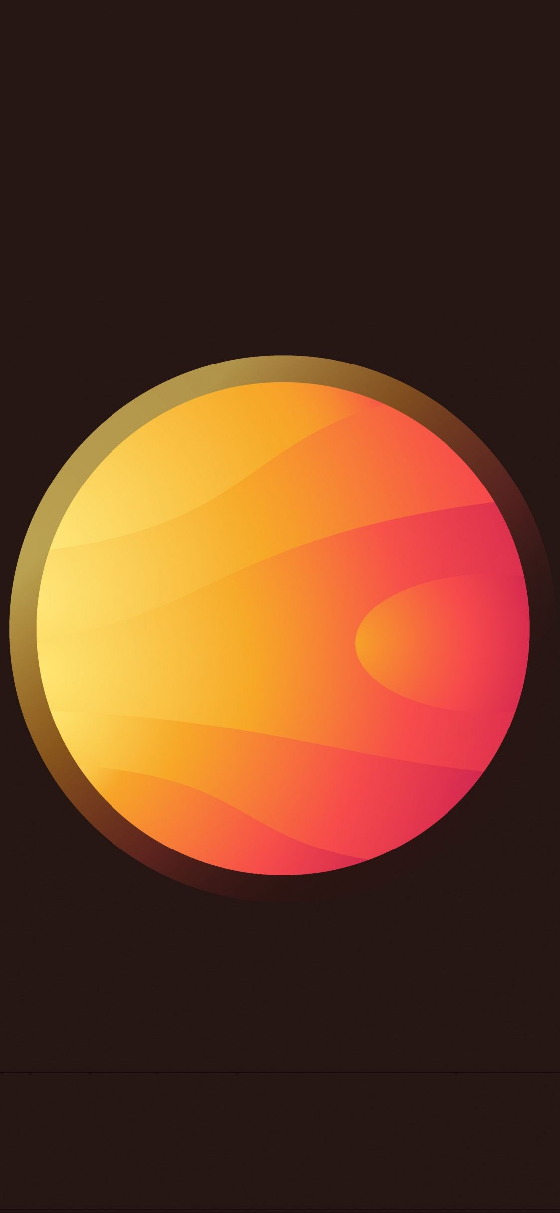 sun, glowing star, planet, minimalist, 1125x2436 wallpaper
