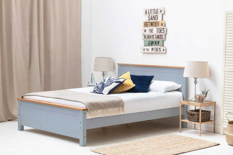 Rostherne Grey Oak Wooden Farmhouse Bed Frame Single Double