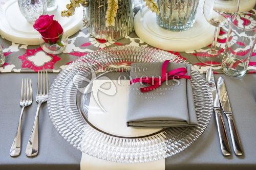 Stunning Cut Crystal Charger Plate :: Decorative Events & Exhibitions