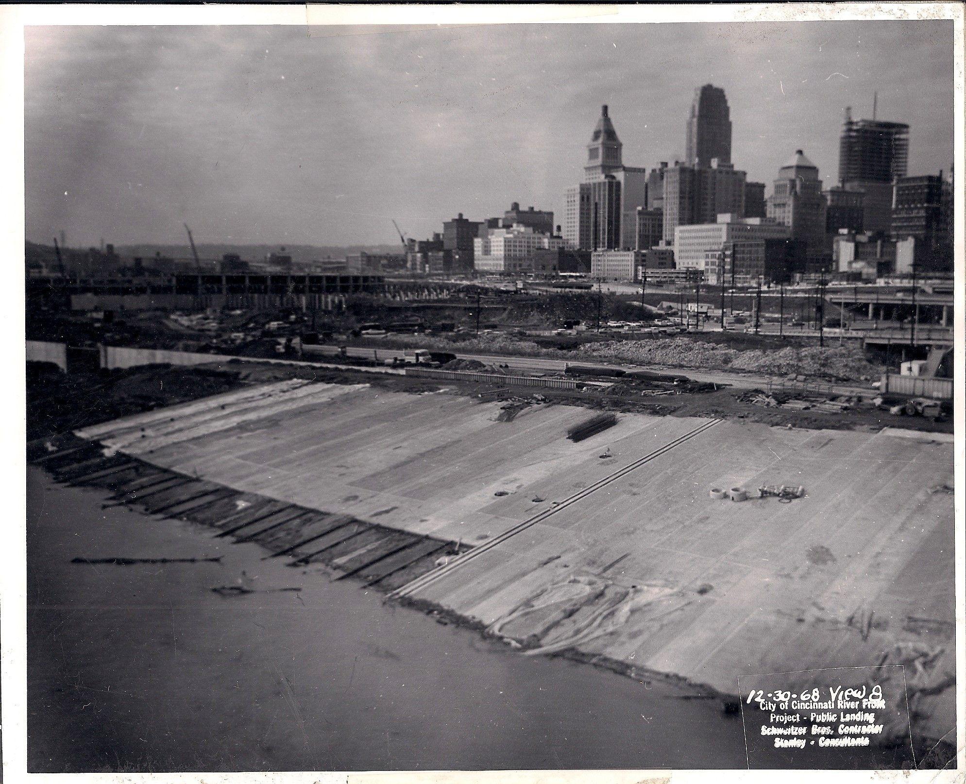 1968 Public Landing Under Construction Cincinnati Ohio Cincinnati Old Pictures