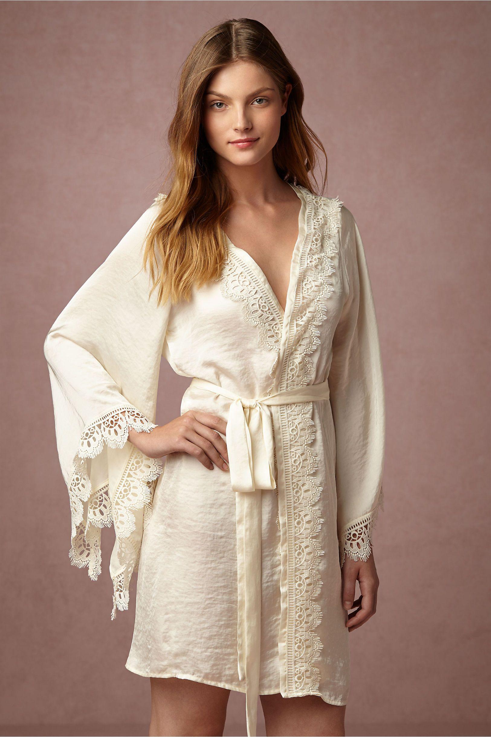 lace bridal lingerie robe   Suri Kimono Robe from BHLDN   Bridal ...
