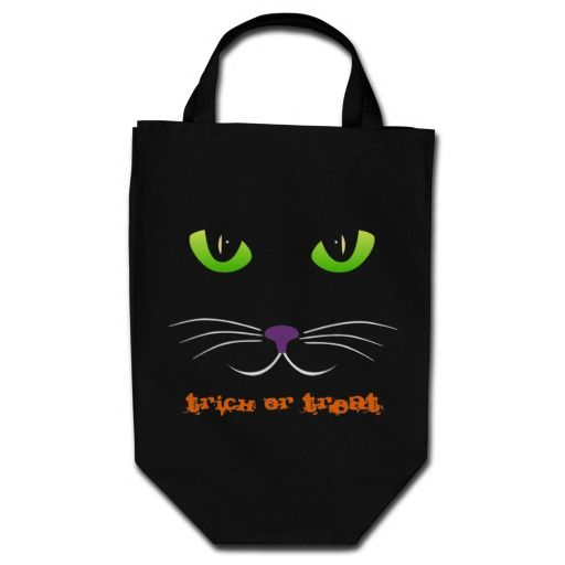 Spooky Cat Face Bag  Click on photo to purchase. Check out all current coupon offers and save! http://www.zazzle.com/coupons?rf=238785193994622463&tc=pin