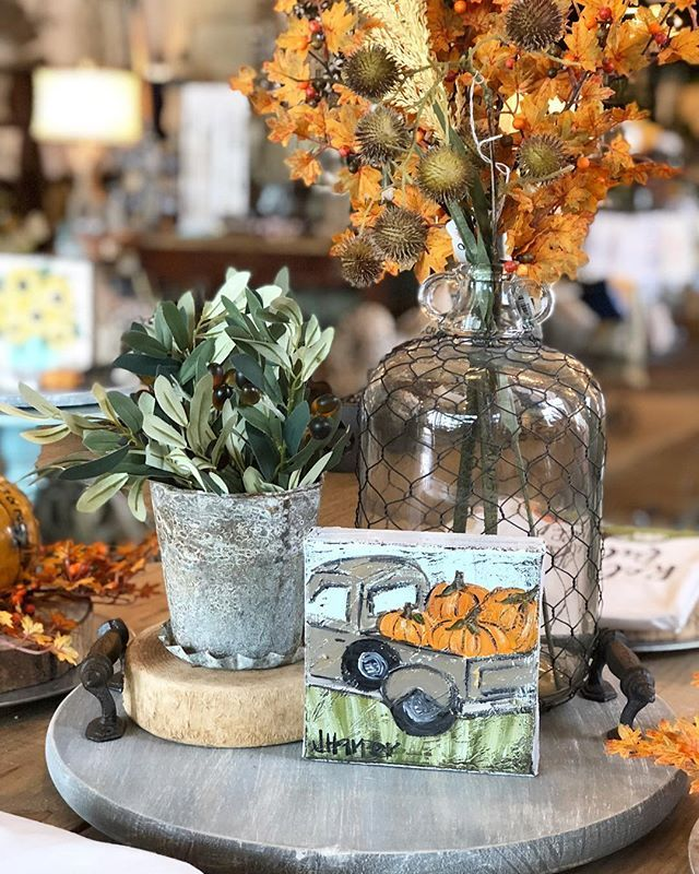 DIY Fall painted foam Pumpkins using Dollar Tree and