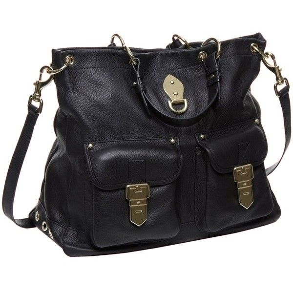 e22d18f7e4 Pre-owned Mulberry Tillie Black Tote Bag ( 450) ❤ liked on Polyvore  featuring bags