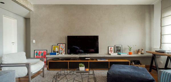 Odtiene sivej: krásnemu bytu v São Paulo dominuje betón. – Doba Mag.