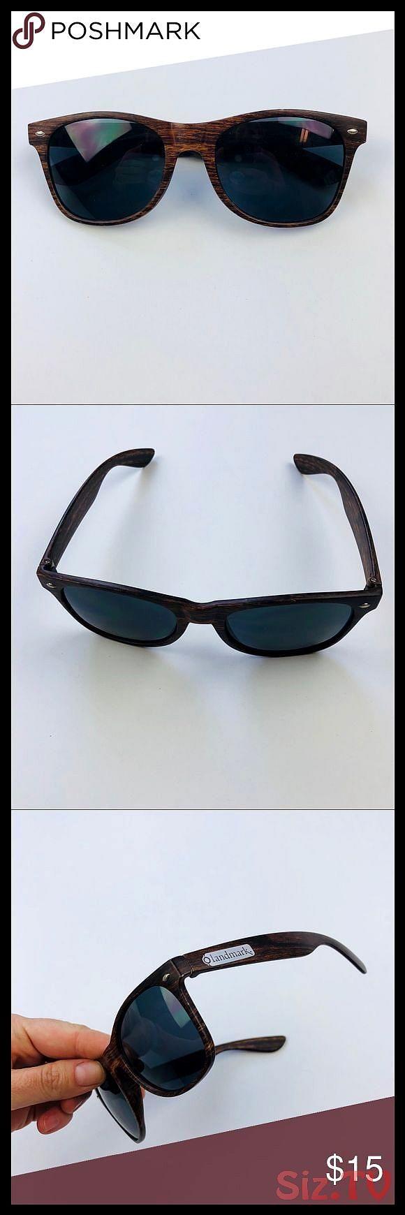 Mens wood grain sunglasses plastic frame Mens square wood grain sunglasses brown outdoor plastic like new Accessories Sunglasses Mens wood grain sunglasses plastic frame...
