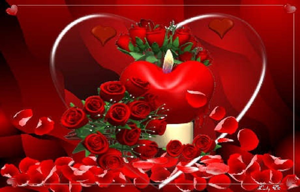 Lovely Red Heart Attractive Wallpapers Download