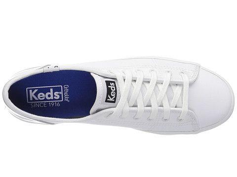 Keds Kickstart Retro Court Patent White