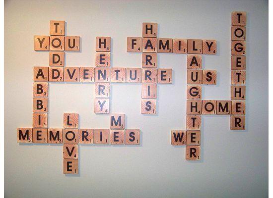 Diy Scrabble Letter Tiles Family Words From Reader Abbie Tutorial
