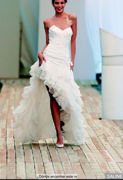 Vestido de novia corto   Vestidos fiesta   Pinterest   Vestidos de ...