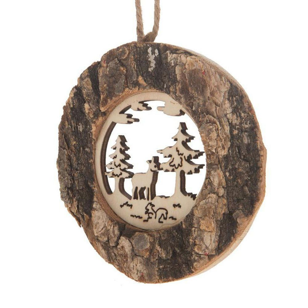 Dijk Natural Collections kersthanger hout hert   Betaalbaarshoppen.nl #woonaccessoires