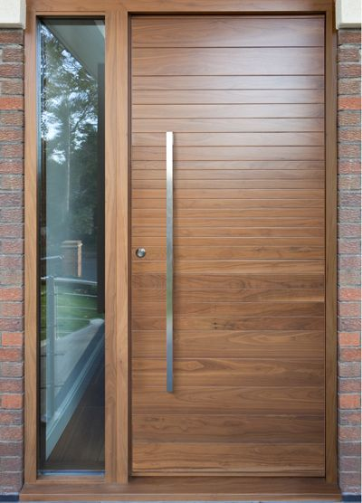 Urban front contemporary front doors uk finishes c for Black wooden front door