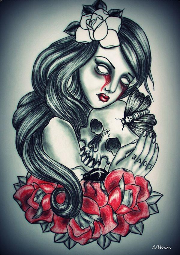 Always together tattoo flash - Tattoo Designs by Mariola Weiss  <3 <3