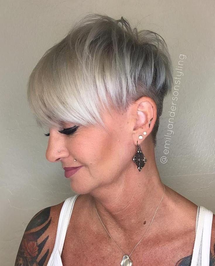 60 Gorgeous Gray Hair Styles Gray Hair Undercut And Gray