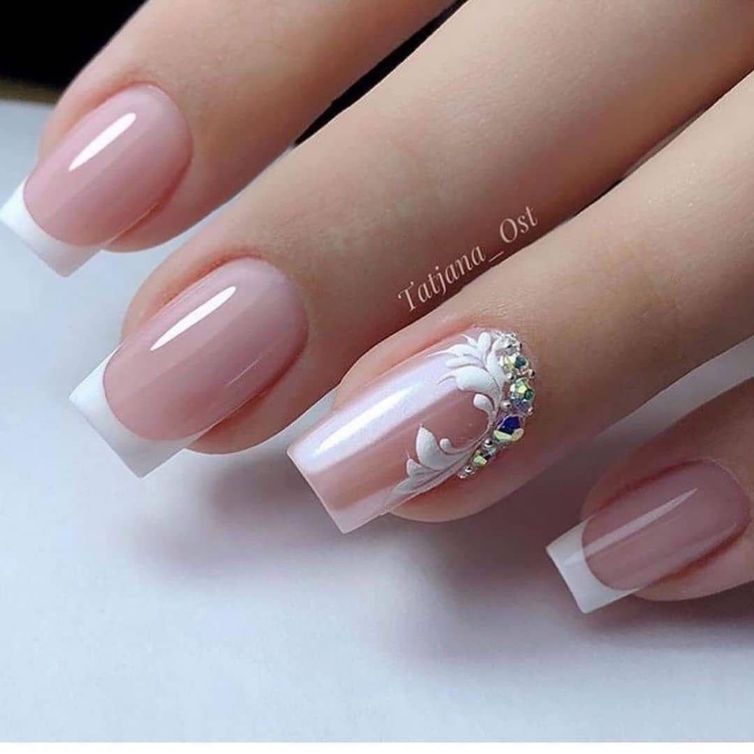 Pin By Sha Mchenry On Cuteee In 2020 Bridal Nail Art Elegant Nails Pretty Nail Art Designs