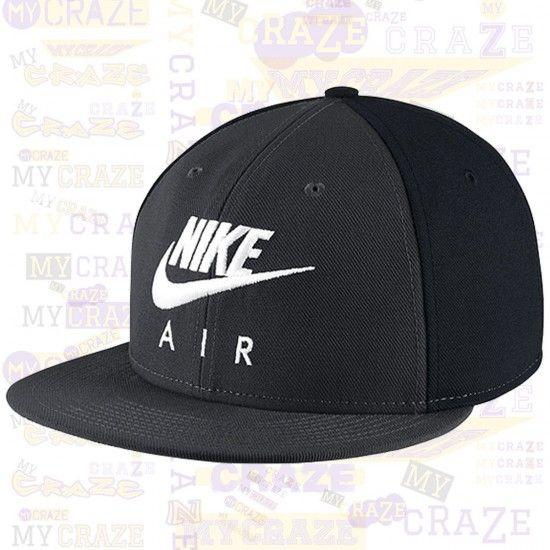 9ebc566575c NIKE AIR Seasonal Futura True Swoosh Hat Snapback Unisex Black Grey Cap –  MyCraze