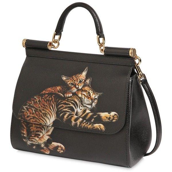 226cd02b2d7f Dolce   Gabbana Women Medium Sicily Cats Printed Dauphine Bag (47 ...