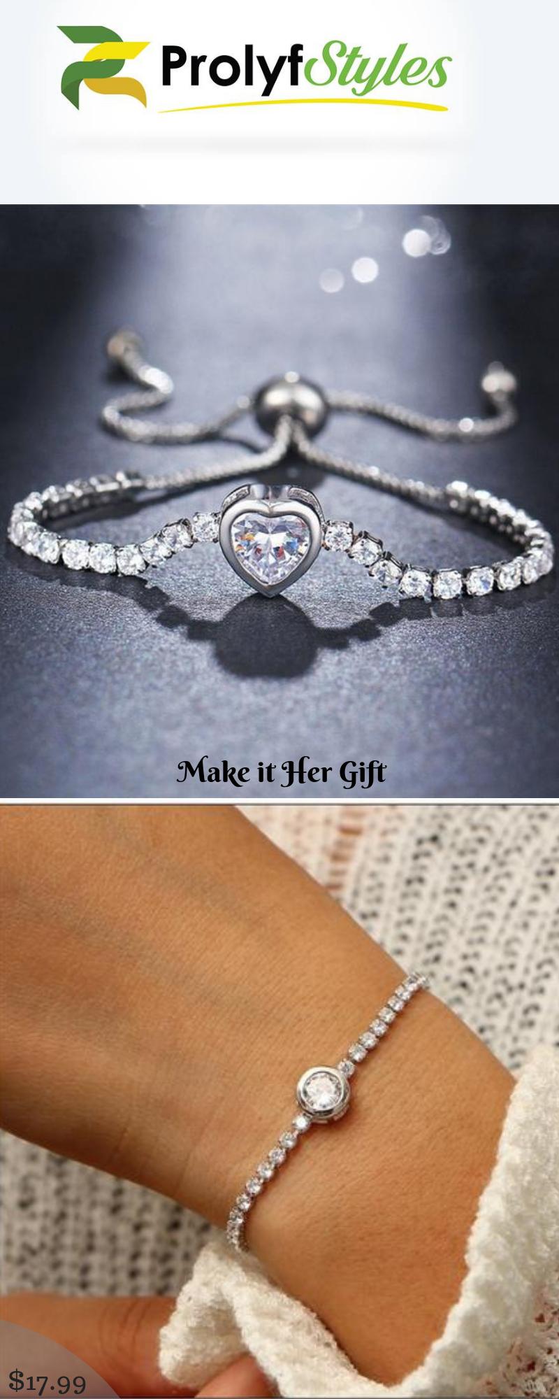 Round tennis bracelet for women in bracelets for men u women