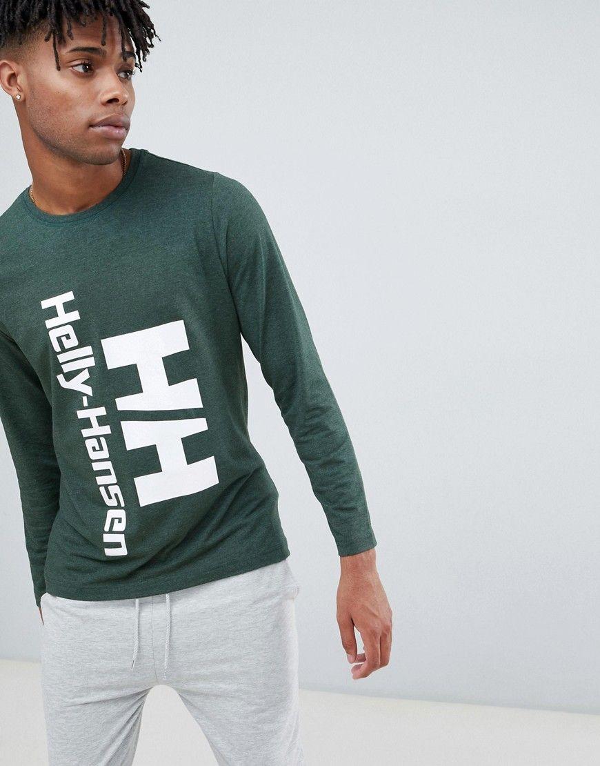 7ada37df8300 HELLY HANSEN HERITAGE LONG SLEEVE TOP IN GREEN - GREEN.  hellyhansen  cloth