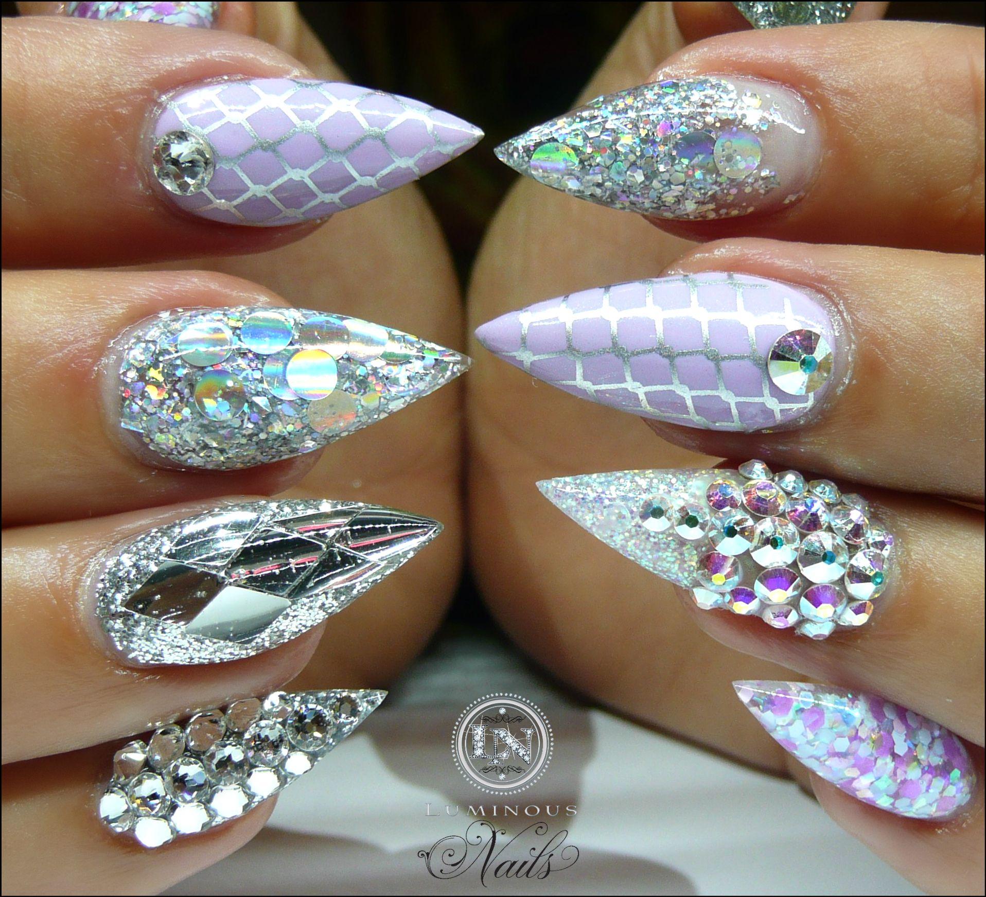 luminous-nails-beauty-gold-coast-qld.-silver-lilac-nails.-acrylic ...