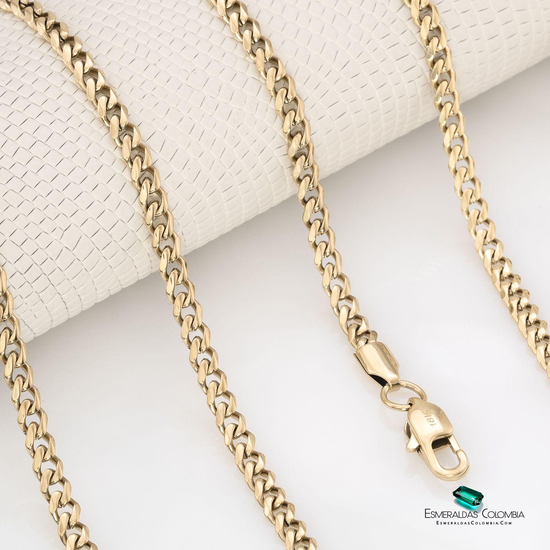 Cadena Tejido Cubano En Oro Laminado De 18k Joyas Oro Cadenas Joyas Artesanales