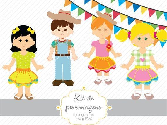 Kit de Personagens - Festa Junina I » Personagens » Estúdio Tuty