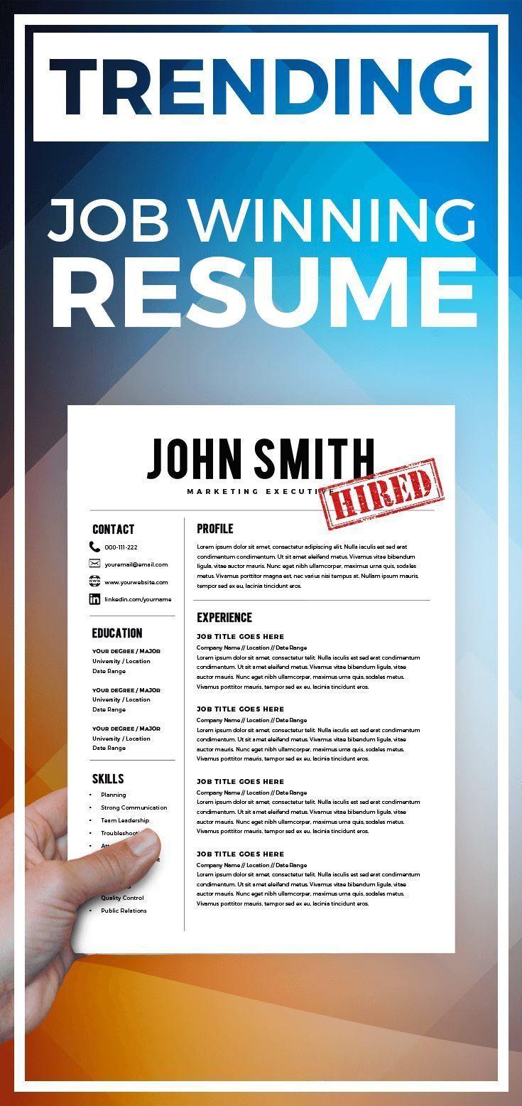 Resume Template Resume Builder CV Template + Cover