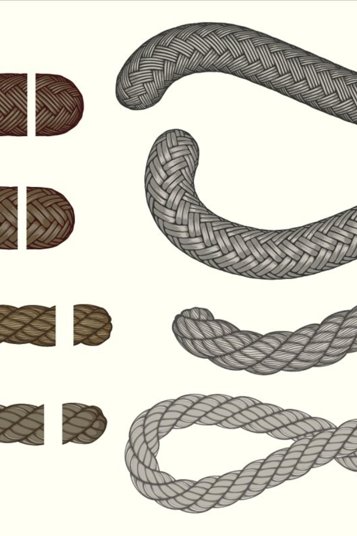 Realistic rope brushes 01 Graphics Tip Realistic rope