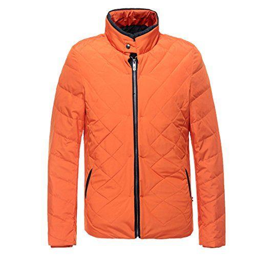 Herren mantel orange