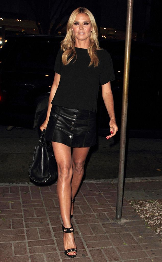 Heidi Klum from The Big Picture: Today's Hot Pics  The model shows off her golden gams after a dinner date in West Hollywood.
