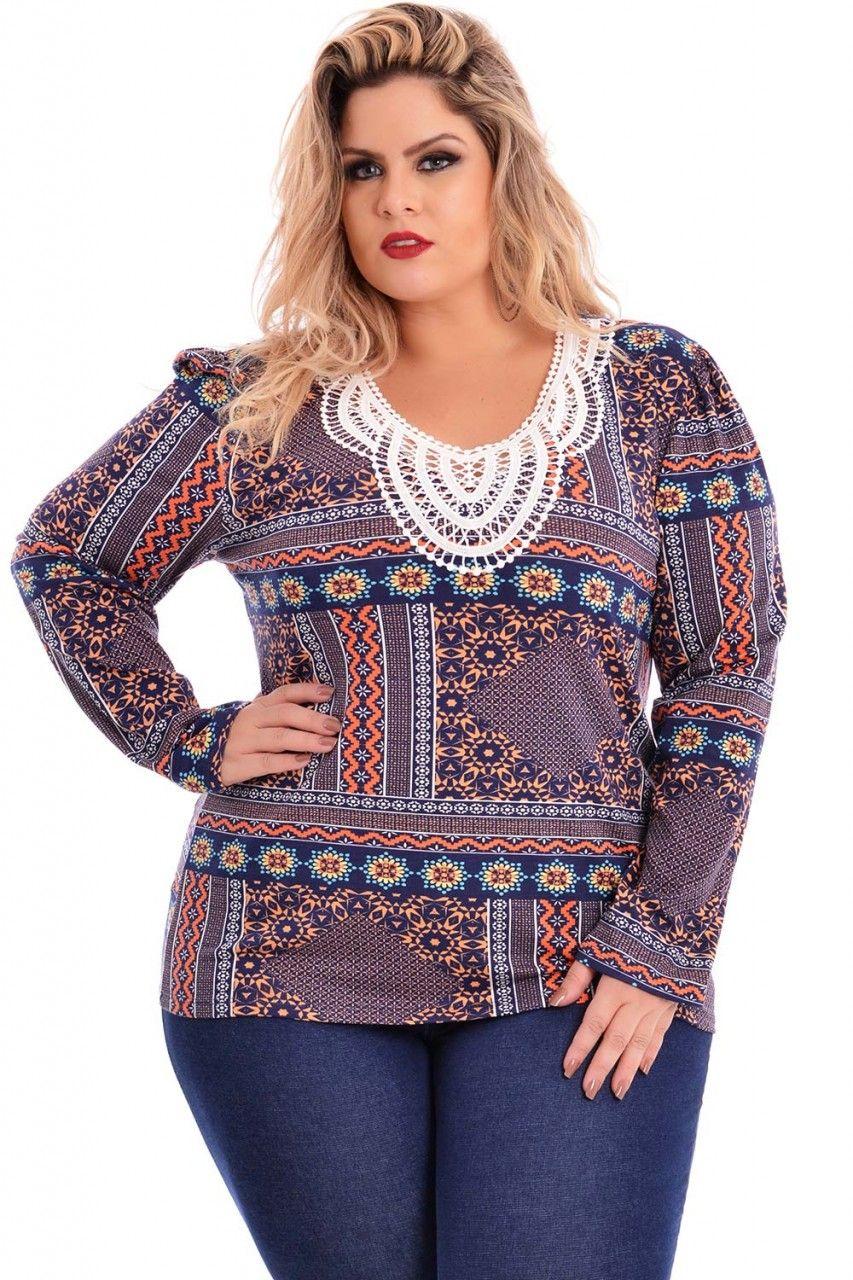 Blusa Charlotte Plus Size