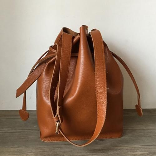 02f12a1cbfc1 Overview: Design  Genuine Leather Bucket Shoulder Crossbody Bags Purses In  Stock  3-