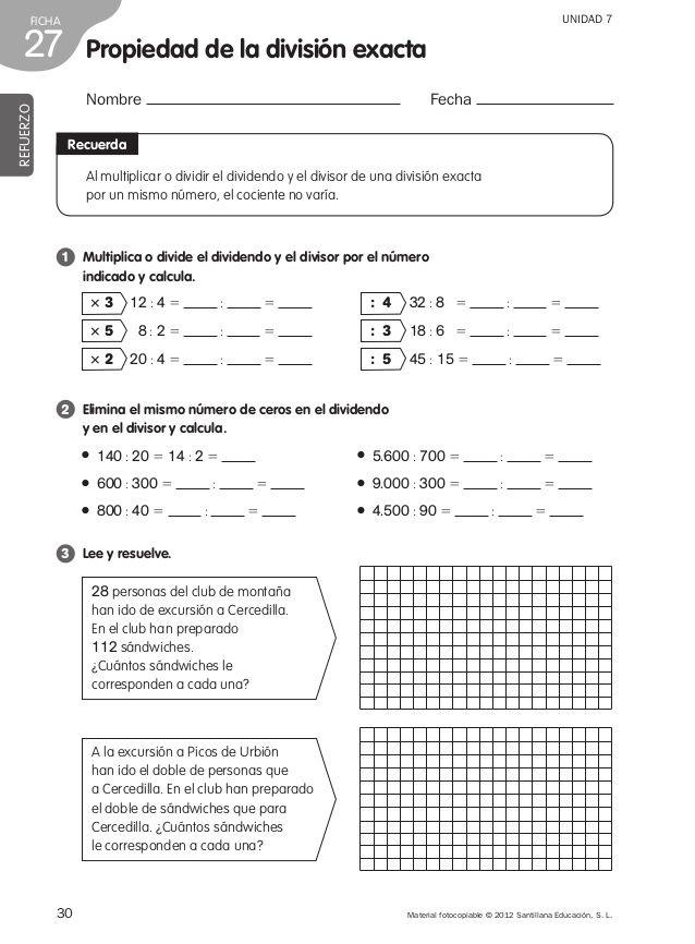 Refuerzo matemáticas 4º de primaria | fracciones | Pinterest | Grado ...