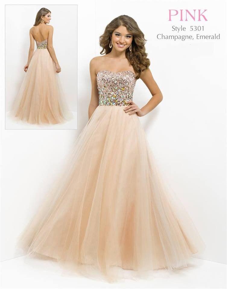 champagne color Grad dress | formal&fancy | Pinterest | Grad dresses ...