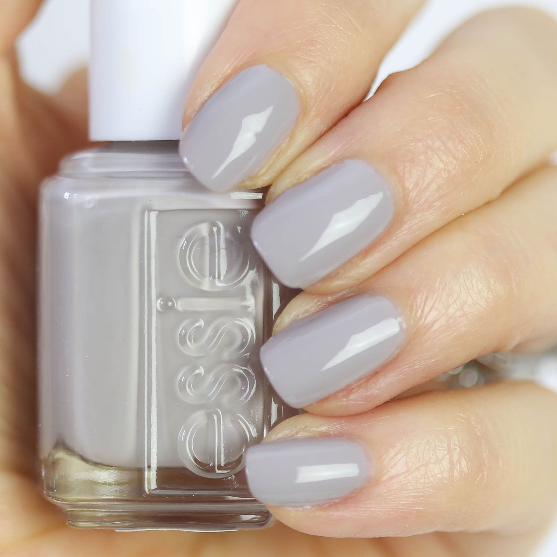 Blue Grey Nail Polish Essie: Essie Without A Stitch, Essie Wild Nude Collection, Nude