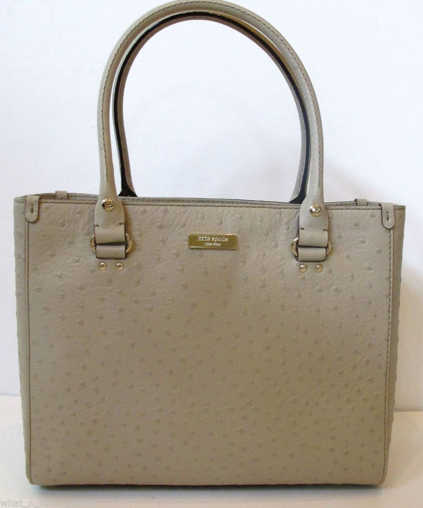 Bag New Nwt Kate Spade Wellesley Ostrich Leather Quinn