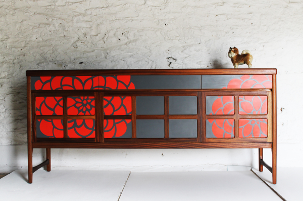 MidCentury Modern furniture gorgeously revamped by Lucy Turner