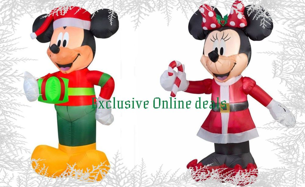 minnie mouse mickey mouse inflatable mickey blow up christmas yard decoration gemmyairblown - Mickey Mouse Christmas Blow Up