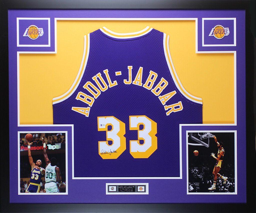 6a8976d4f Kareem Abdul-Jabbar Autographed   Framed Purple Lakers Jersey Auto ...