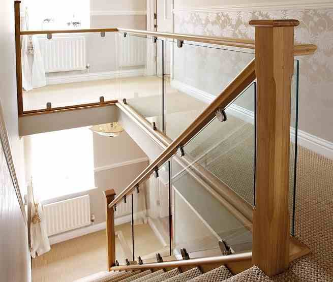 Toughened glass staircase panels