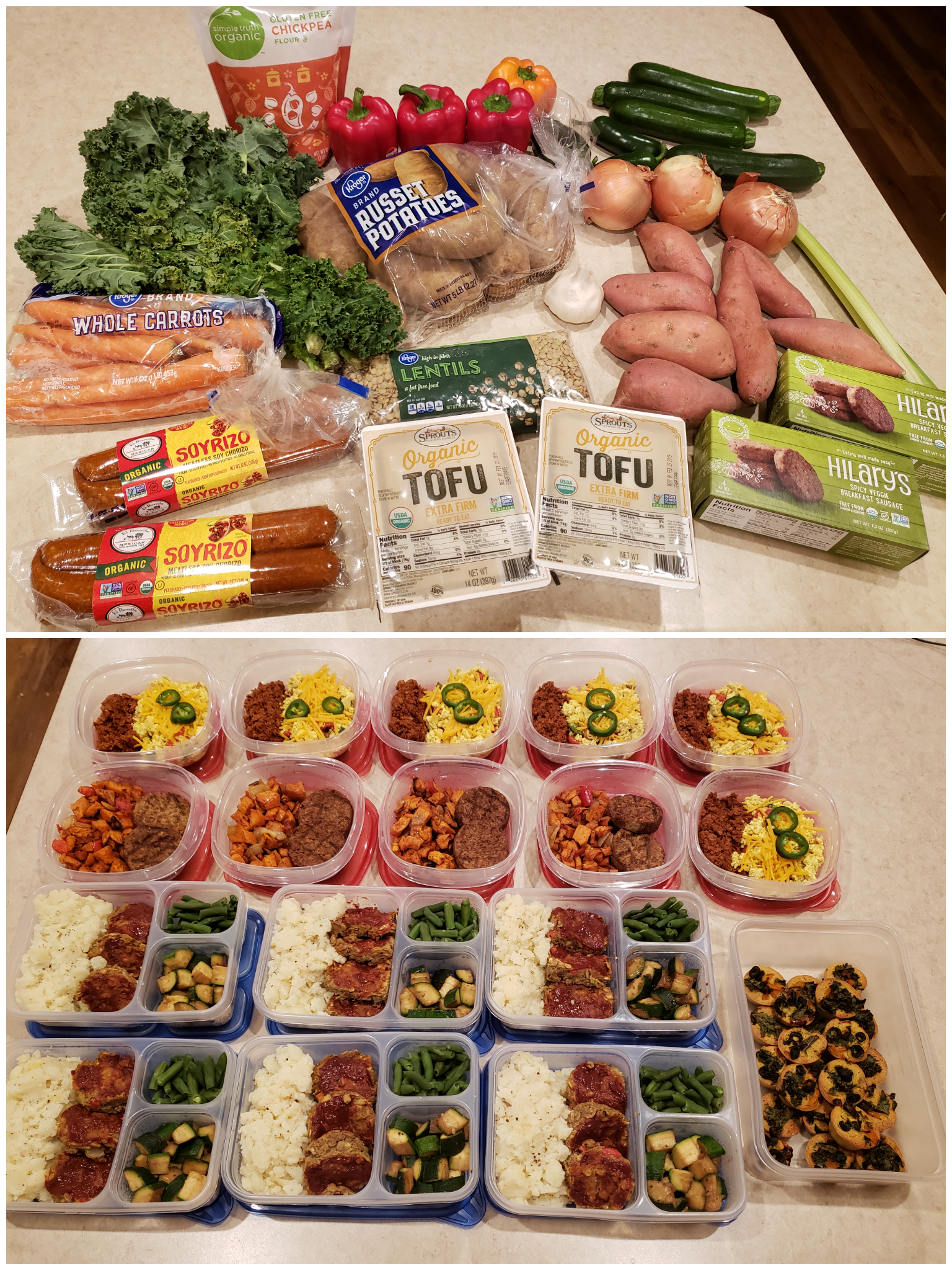 16 Meal Vegetarian Prep Food Healthy Recipes Meals