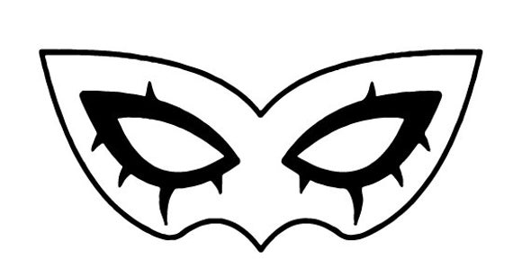 Jokers Mask From Persona 5 This Is A File For Any Device Software Compatible With Dxf Files Dxf Files Do Not Retain The Persona 5 Joker Joker Mask Joker Logo