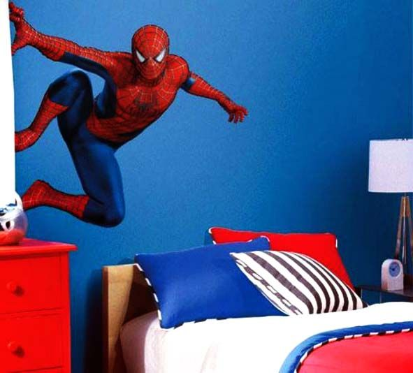 spiderman bedroom paint idea | boys bedrooms and things