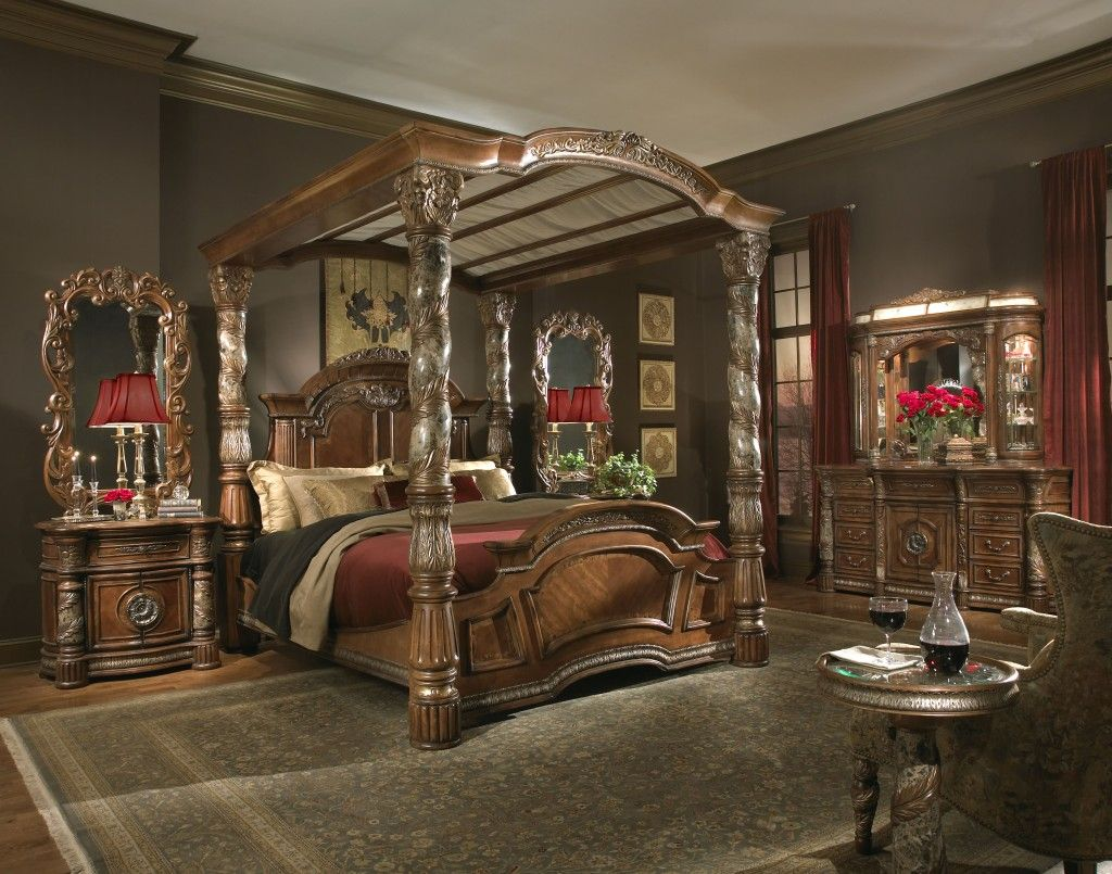 How To Use A Four Poster Bed Canopy To Good Effect: High-End Well-Known Brands For Expensive Bedroom Furniture