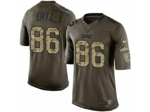 Men s Nike Philadelphia Eagles  86 Zach Ertz Limited Green Salute to Service  NFL Jersey 6b5fc2362