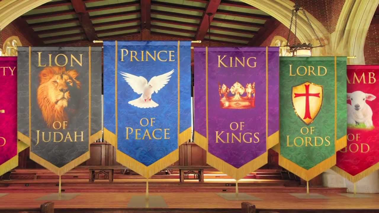 Church Banners - Names of Christ from PraiseBanners | Church banners  designs, Church banners, Church decor